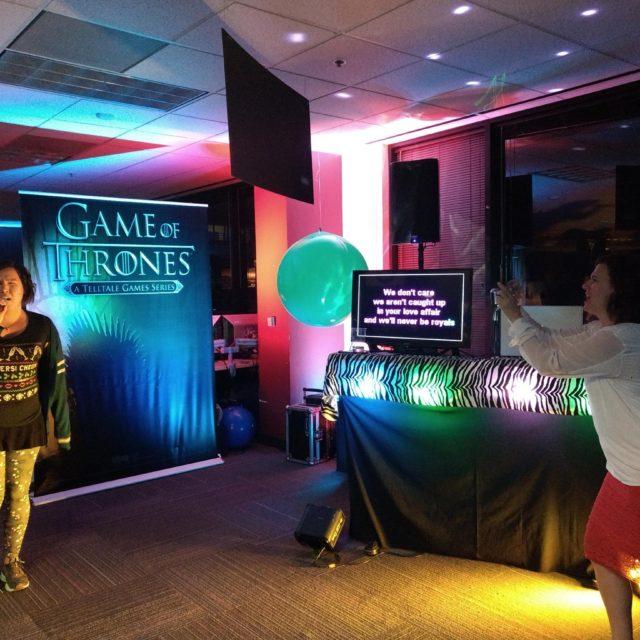 29 TellTale Games Holiday Party - San Rafael, CA (Lyrics on a 32 inch flat screen TV)