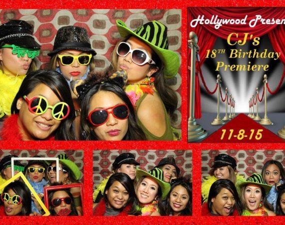 CJ 18th Birthday (Hollywood Theme)