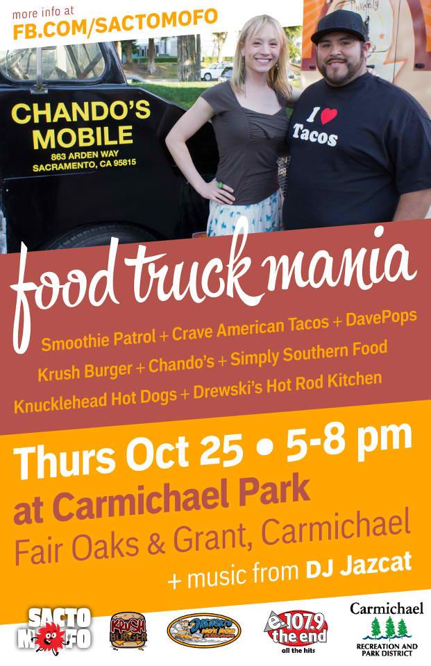 SactoMoFo Food Truck Mania -- Carmichael Park Oct25
