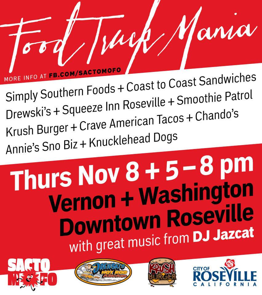 SactoMoFo Food Truck Mania -- Downtown Roseville Nov8