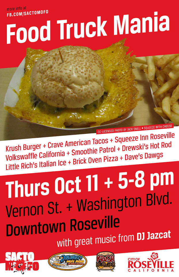 SactoMoFo Food Truck Mania -- Downtown Roseville Oct11