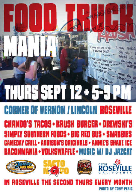 SactoMoFo Food Truck Mania -- Downtown Roseville Sept12