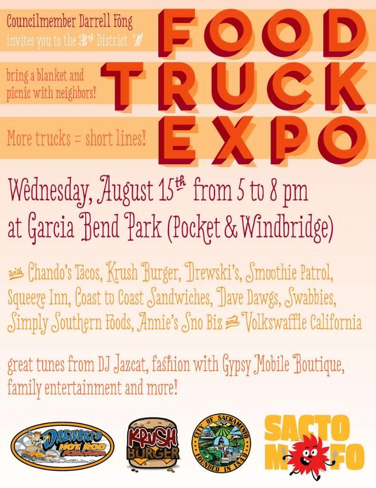 SactoMoFo Food Truck Mania -- Garcia Bend Park Aug15