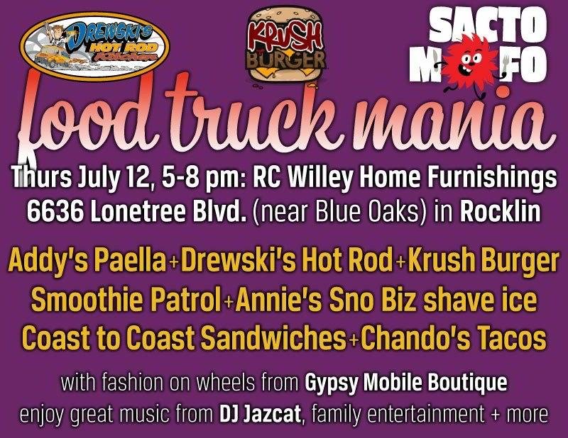 SactoMoFo Food Truck Mania -- RC Willey Rocklin July12